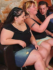 Fucking the fabulous fat slut in orgy